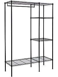 songmics shelving garment rack