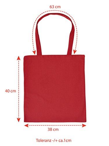 Tasche Tote Bag Henkeltasche Beutel mit Aufdruck Tragetasche Must-have Stofftasche Geschenkidee Fun Einkaufstasche