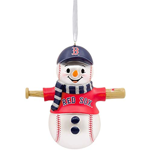 Hallmark MLB Boston Red Sox Snowman Ornament Sports & Activities,City & - Snowman Boston Sox Red