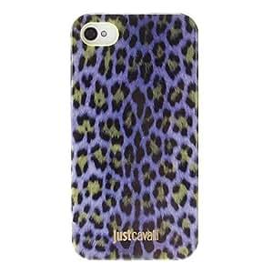 CECT STOCK Púrpura del estampado leopardo elegante Smooth Funda antichoque para el iPhone 4/4S