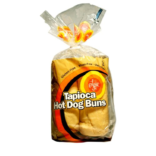 Ener-G Foods Tapioca Hot Dog Buns, 7.76-Ounce Units (Pack of 6) Ener G Foods Gluten Free Bread