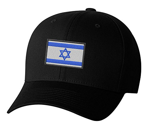 Israel Country Flag Embroidered Hat 4 Colors - Black - OSFA Adjustable
