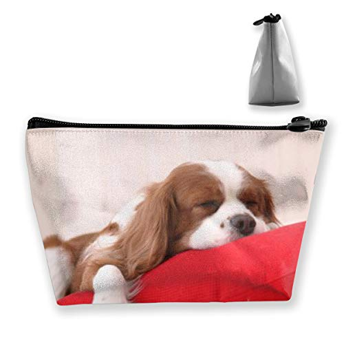 - Holderbee Cavalier King Charles Spaniel Cosmetic Makeup Bag/Pouch/Clutch Travel Case Organizer Storage Bag for Women¡¯s Accessories Toiletry Beauty,Skincare Travel Accessory