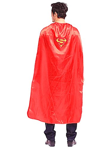 Halloween Costume Deluxe Adult Cape with Superman Logo and Mask