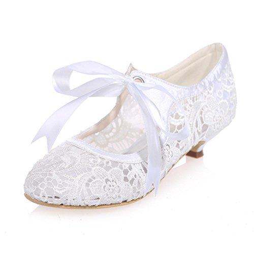 L@YC Zapatos De Boda De Las Mujeres Flores De Encaje / Fiesta De Encaje Noche 9001-06 Y MáS Colores Disponibles White