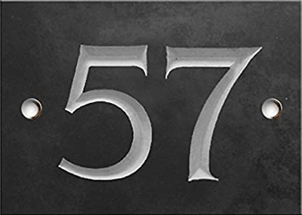 Schiefer Zahlen - 41 bis 60 (wä hlen Sie hier Ihre Nummer) - nummer 41 Nummern und Namen