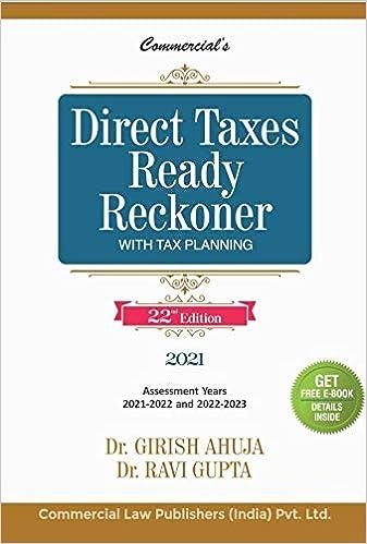 Direct Tax Ready reckoner