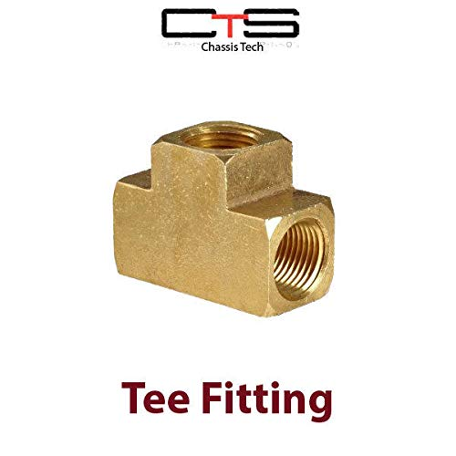 CHASSIS TECH Tee Female Air Fittings 3/8 X 3/8 X 3/8