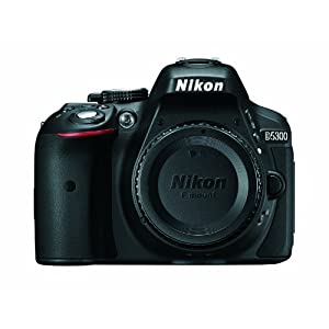 41HfZOKOU0L. SS300  - Nikon D5300 24.2 MP CMOS Digital SLR Camera with Built-in Wi-Fi and GPS Body Only (Black)