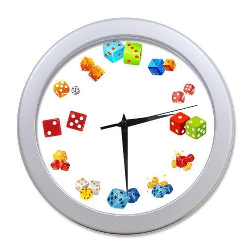 """Dice Number Countl Wall Clock-9.65"""" in Diameter"""