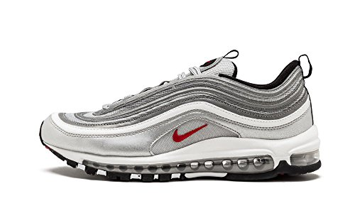 Nike Air Max 97 Og Qs Mens Running Trainers 884421 Scarpe Da Ginnastica Bianche