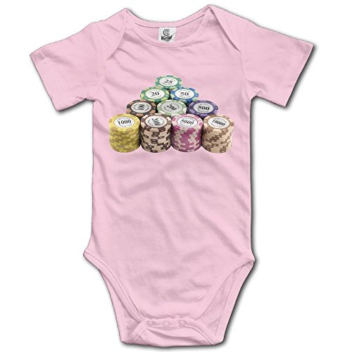 WUGOU Baby Bodysuit Poker Chip Pile Short Sleeves Triangle Romper Bodysuit Outfits Infant Toddler Clothes