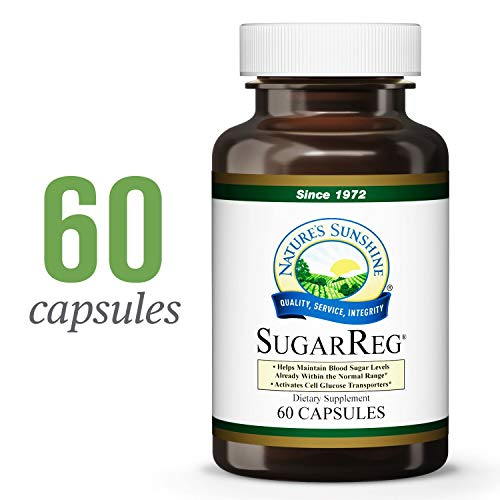Pack Reg - Nature's Sunshine SugarReg, 60 Capsules | Supports Already-Normal Range Blood Sugar Levels, Activates Cell Glucose Transporters, and Supports The Liver