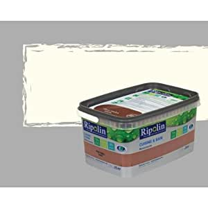 Ripolin  2L5 - Pintura para cocina y baño (satinada), color blanco roto