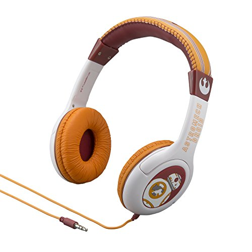 092298925509 - Star Wars The Force Awakens Episode 7 BB 8 Kid Friendly Volume Reduced Youth Stereo Headphones carousel main 0