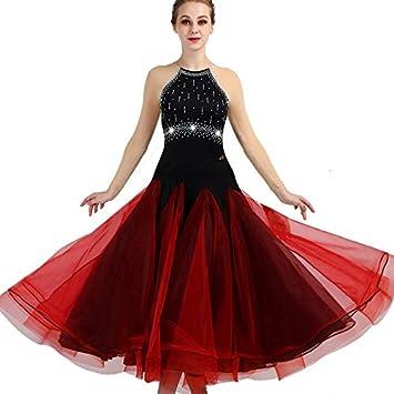 Wangmei Falda de Baile de Vals para Mujer Traje de Competencia ...