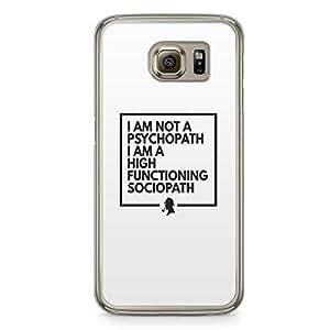 Samsung Galaxy S6 Transparent Edge Case Sherlock Sociopath