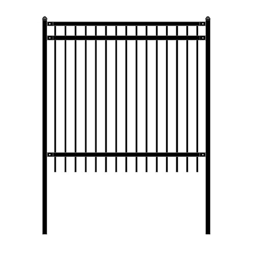 ALEKO Nice Style Self Unassembled Steel Fence, 6' x 6' Black