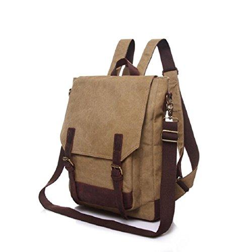 Z&N Backpack Lona Impermeable Alta Calidad Bolso Hombro Unisex Del Estudiante Universitario Vendimia Mochila Al Aire Libre Recorrido Uso Acampa Weekender Equipaje Mochila Daypacks B 15L A