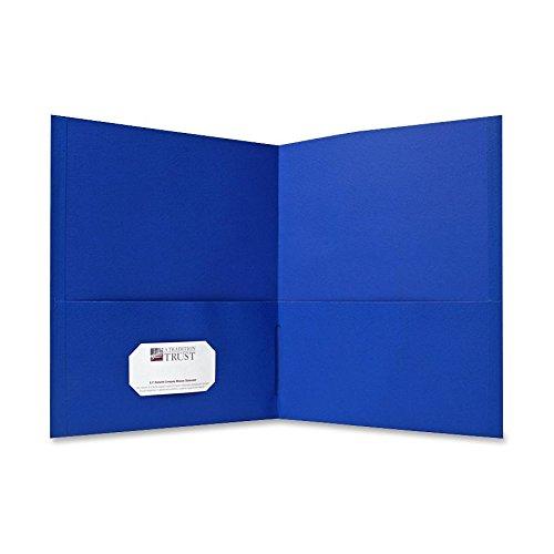 Sparco 71436 Double Pocket Portfolio, 125 Sheet Cap, 25/BX, Light Blue (Sheet Cap 125)