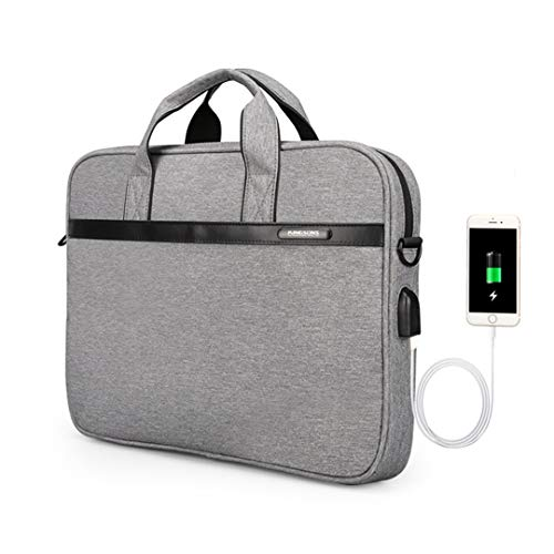 11'' 12'' 13'' 14'' 15'' Laptop Sleeve Bag Waterproof Notebook Tablet Bags Case Messenger Shoulder Gray 15 Inches