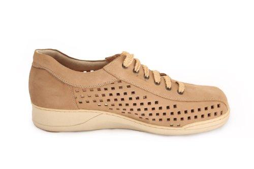 Moran Women 819 Chaussures À Lacets Perforées Beige
