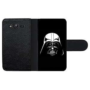 Funda carcasa de cuero para Samsung Galaxy Grand NEO Darth Vader blanco y negro SW