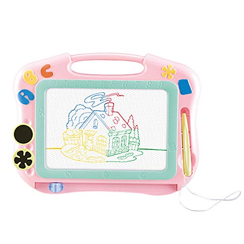 HahaGift Birthday Gifts for a 2 3 4 5 6 Year Old Girl, Magnetic Doodle Erasable Drawing Board Toys for 7-12 Year Old Girls Present for Toddlers Babies 2-6 Year Old Toys 2019 Christmas New Gifts,Pink