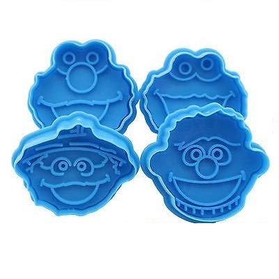 Lovely Mold :4x Elmo Fondant Cake Cupcake Decorating Cookie Biscuit Plunger Cutter Mold Tools ()