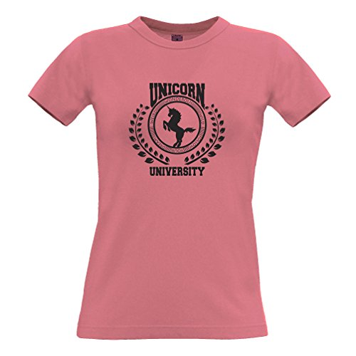 Tim and Ted Siate sempre Un'università Unicorn Of Magic Stregoneria disegno stampato T-Shirt Da Donna