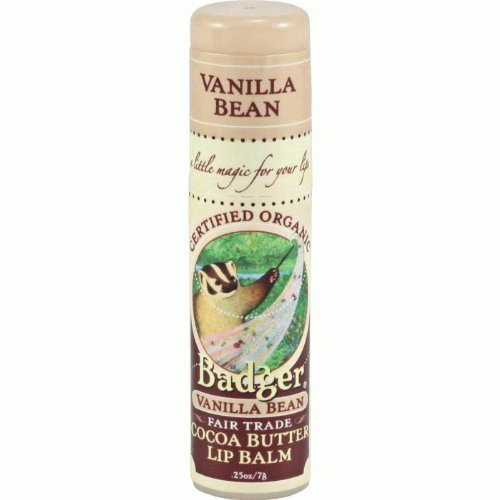 Badger Cocoa Butter Lip Balm Stick - Vanilla Bean by Badger