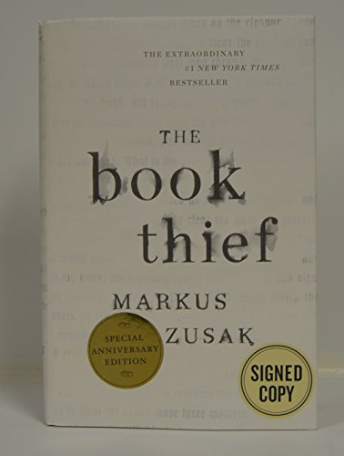 """MARKUS ZUSAK signed """"The Book Thief"""" Hardcover Book FIRST ANNIVERSARY EDITION"""