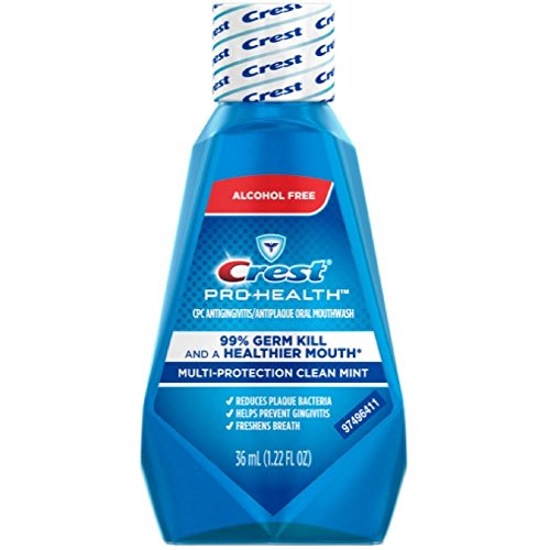 Crest Pro-Health Mutli-Protection Oral Rinse, Clean Mint, Travel Size TSA Approved, 1.22 Oz (Pack of 24) by Crest