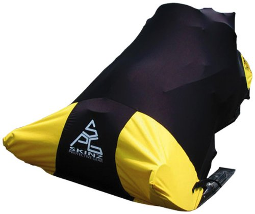 (Skinz Protective Gear SNCWP100XL-YLW Yellow X- Large Pro Series Snowmobile Cover)