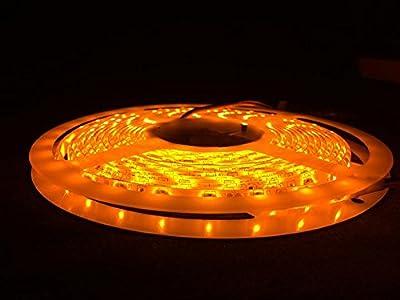 Apatner Waterproof Orange LED 3528 SMD 300LED 5M/16FT Flexible Light Strip 12V 60LED/M