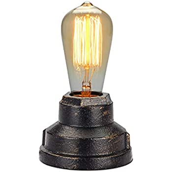 Boncoo Touch Control Table Lamp Vintage Desk Lamp Small Industrial Touch Light Bedside Dimmable Nightstand Lamp Steampunk Accent Light Edison Lamp Base Antique Night Light for Living Room Bedroom
