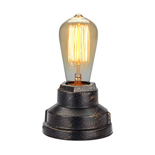 - Boncoo Touch Control Table Lamp Vintage Desk Lamp Small Industrial Touch Light Bedside Dimmable Nightstand Lamp Steampunk Accent Light Edison Lamp Base Antique Night Light for Living Room Bedroom