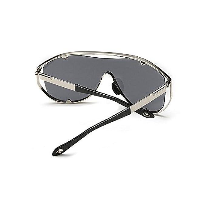 Sole Colorati Uv Donna In Sportivi Per Oversize Con colore Protezione Y-weifeng Da Occhiale Metallo Grigio Occhiali Stile