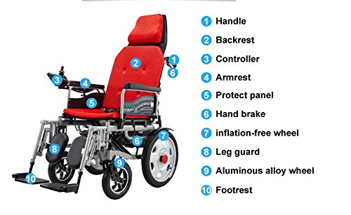 2018 New Comfy Go Remote Control Heavy Duty Handbrake Lithium Battery Electric Power Wheelchair