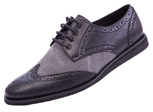 ModaBoutique Herren Oxford Schnürhalbschuhe Schuhe Business Schwarz
