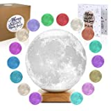 Cheap Moon Lamp Moon Light 3D Moon [Desk] Lamp – [USA Seller] [Upgrade] 16 Color Moon Night Light with Stand – Mood Lamp Book, Globe, Cool Lamp, USB Direct Power No Battery (7.1 inch 16 Color Desk Lamp)