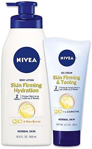 NIVEA Skin Firming Variety Pack - Includes Skin Firming Lotion (16.9 fl. oz.) & Skin Firming Gel-Cream (6.7 oz.)