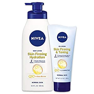 NIVEA Skin Firming Variety 2 Pack – Includes Skin Firming Lotion (16.9 fl. oz.) & Skin Firming Gel-Cream (6.7 oz.)