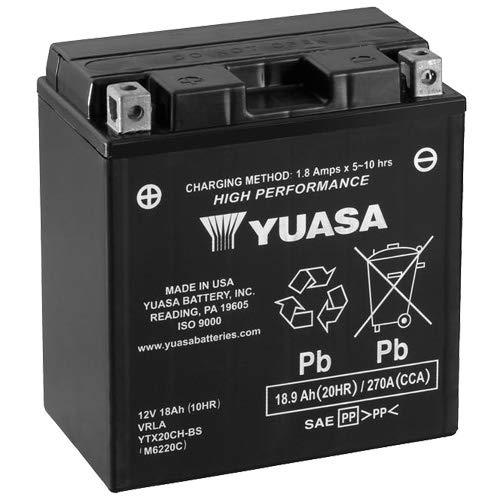Batteria YUASA ytx20ch-bs BS, 12V/18ah (dimensioni: 150X 87X 161) per Honda XL1000V Varadero anno di costruzione 2005