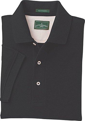 Outer Banks Mens 6 oz. Egyptian Diamond Knit Polo - BLACK - 3XL ()