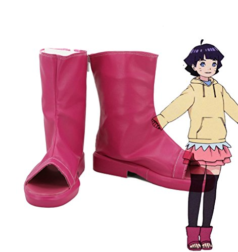 Boruto: Naruto La Película Uzumaki Himawari Cosplay Zapatos Botas Custom Made