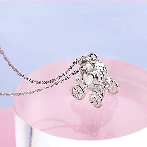 (1pc Gorgeous Women Silver Dream Pumpkin Car Pendant Delicate Pandent Necklace Gifts BO6Q)