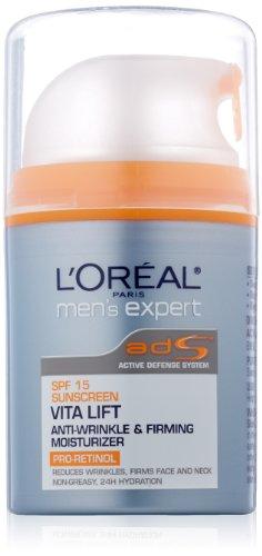 Expert Vitalift de L'Oréal Paris Men Jour SPF 15 Anti-Rides et Fermeté Hydratant, 1,6 once fluide
