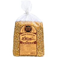Amish Country Popcorn | 6 LB Mushroom Kernels | Old Fashioned, Non GMO, Gluten Free, Microwaveable and Kosher with Recipe Guide (6lb Bag)