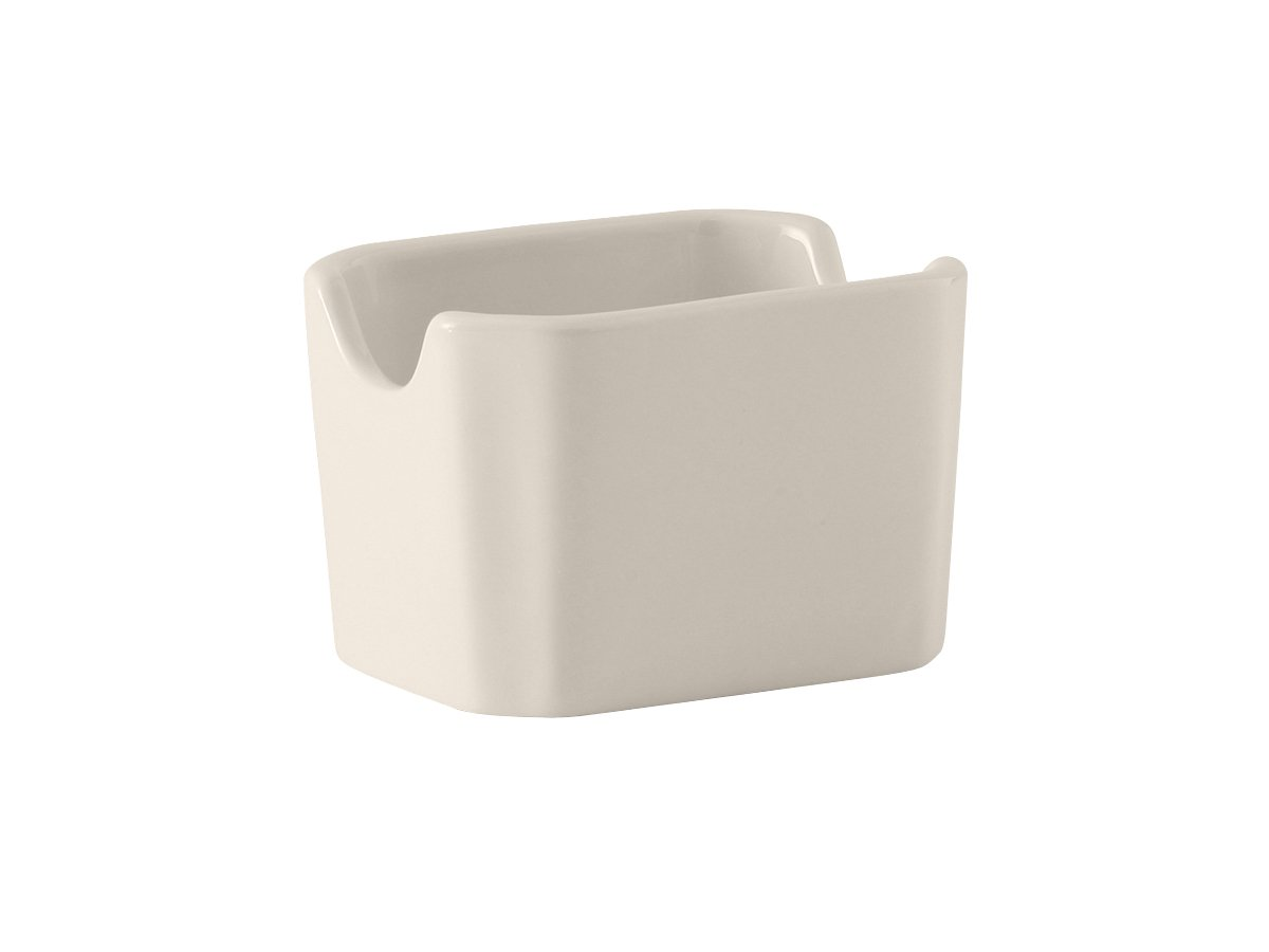 Tuxton BEQ-034 Vitrified China Sugar Packet Holder, 3-1/2, Eggshell (Pack of 12), 3-1/2 TUXBEQ034